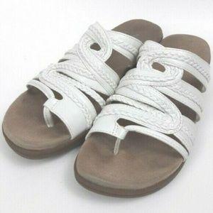 Yuu Dansa Womens Slip On Sandals White Size 5M